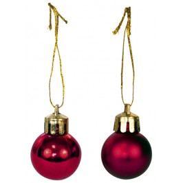Plastová vánoční koule 2.5cm, Cena za 24ks