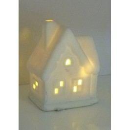 Porcelánový domeček s LED světlem