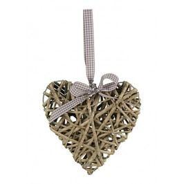 Srdce proutěné - barva šedivá 50 cm