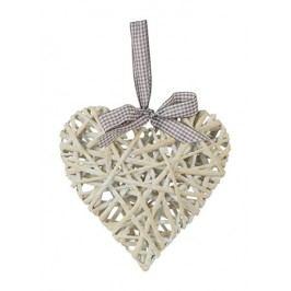 Srdce proutěné - barva bílá 50 cm