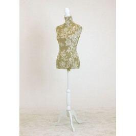 Stojan na oblečení - dřevěná, tvar panna