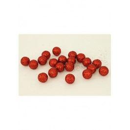 Autronic Vánoční dekorační koule - červená. Cena za 1 polybag