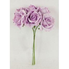 Růžičky pěnové, puget 6ks, barva fialová