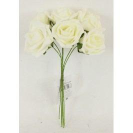 Růžičky pěnové, puget 6ks, barva krémová