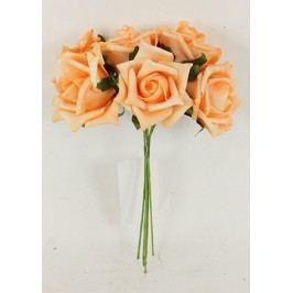 Růžičky pěnové, puget 6ks, barva oranžová