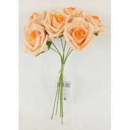 Růžičky pěnové, puget 6ks, barva lososová