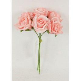 Růžičky pěnové, puget 6ks, barva růžová
