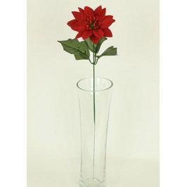 Umělá květina - vánoční růže, poinsécie červená 1-hlavá
