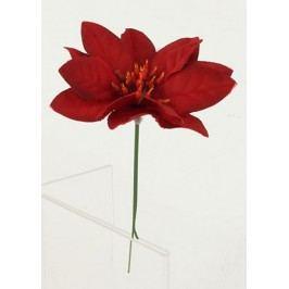Umělá květina- vánoční růže ,poinsécie zápich červená