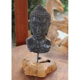 Keramická busta buddhy