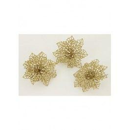 Květina zlatá dekorační. Cena za sadu 3 kusy/ 1 polybag.