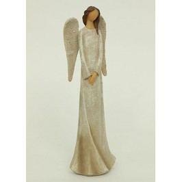 Anděl polyresinový, béžový