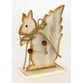 Veverka dřevěná dekorační