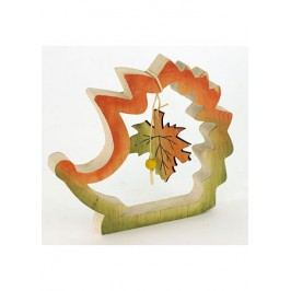 Ježek dřevěný dekorační