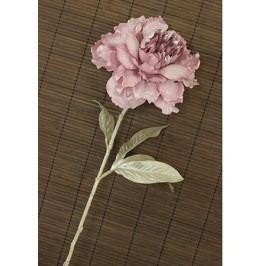 Pivoňka umělá květina, staro-růžová glitrovaná