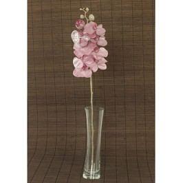 Orchidea umělá květina, staro-růžová glitrovaná