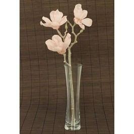 Magnolie umělá květina, růžová glitrovaná