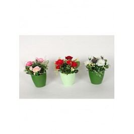 Růžičky umělé v plastovém obalu