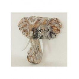 Maska slon - dřevořezba
