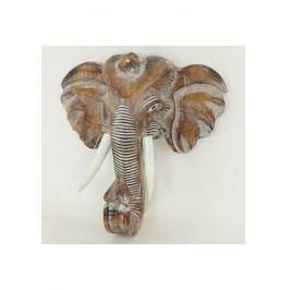 Maska slon dřevořezba
