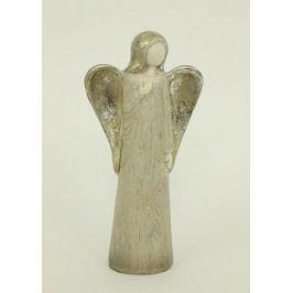 Anděl sříbrný, polyresin