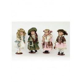Dekorační panenka s porcelánovou hlavičkou, mix 4 druhů