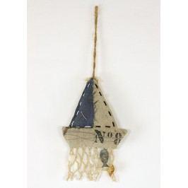 Lodička, textilní dekorace na pověšení