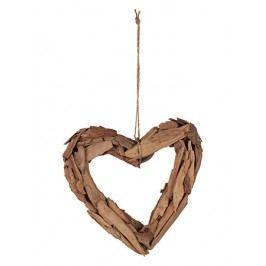 Srdce dřevěné, barva medová