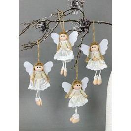 Andělka na pověšení, látková dekorace