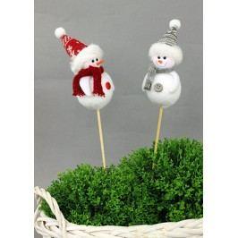 Sněhulák dekorační zápich, cena za 1 kus