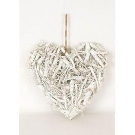 Srdce bílé z větví