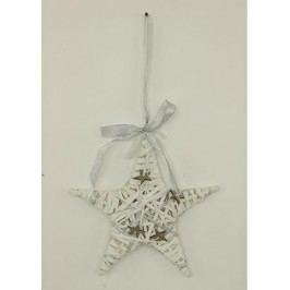 Vánoční hvězda z proutí