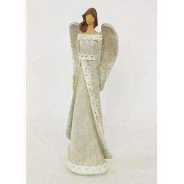 Anděl, polyresinová dekorace, barva krémová