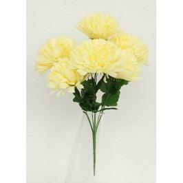 Puget chryzantéma - 7 hlav, barva krémová.
