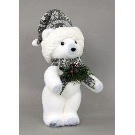 Medvídek, vánoční dekorace z polystyrenu