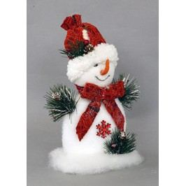 Sněhulák, vánoční dekorace z polystyrenu
