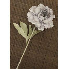 Pivoňka umělá květina, staro-fialová glitrovaná
