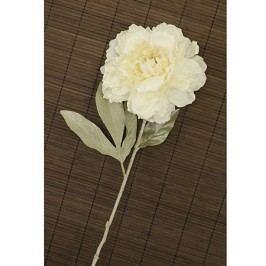 Pivoňka umělá květina, bílá glitrovaná