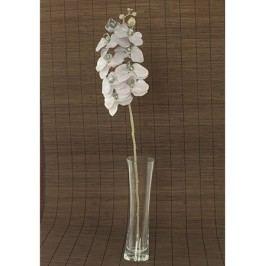 Orchidea umělá květina, staro-fialová glitrovaná