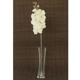 Orchidea umělá květina, bílá glitrovaná