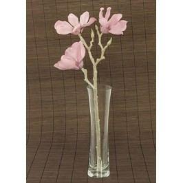 Magnolie umělá květina, staro-růžová glitrovaná