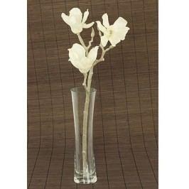 Magnolie umělá květina, bílá glitrovaná