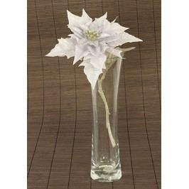 Vánoční růže, poinsécie umělá květina,  staro-fialová glitrovaná