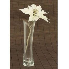 Vánoční růže, poinsécie  umělá květina, bílá glitrovaná