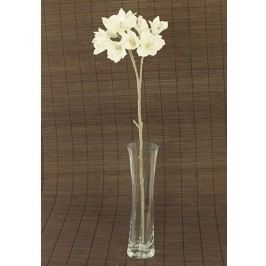 Alstromerie umělá květina, bílá glitrovaná