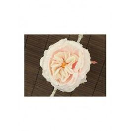 Květ růže na klipu,  umělá květina, růžová glitrovaná