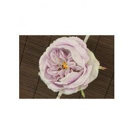 Květ růže na klipu,  umělá květina, staro-růžová glitrovaná