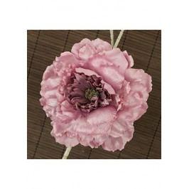 Květ pivoňky na klipu, umělá květina, staro-růžová glitrovaná