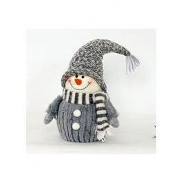 Sněhulák s umělým plyšem, textilní dekorace