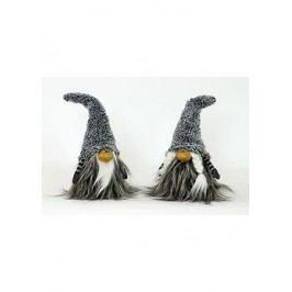 Figurka textilní dekorace s umělým plyšem, mix  dvou druhů, cena za jeden kus